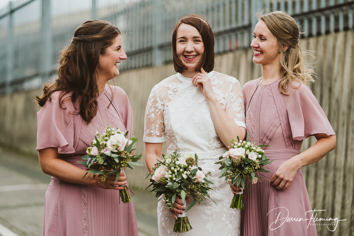 New Craven Hall Wedding Photography. Bridesmaids