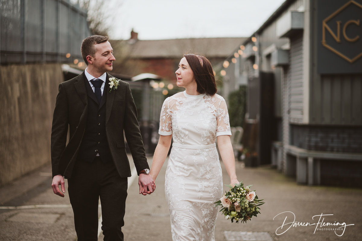 New Craven hall wedding venue Leeds. Newly married couple